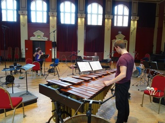 Marimba player at Blackheath Concert Halls